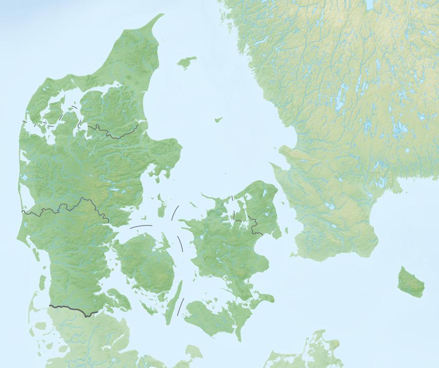 Reliefkarte Dänemark